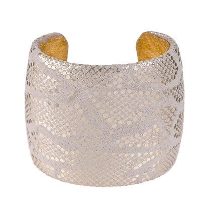 embossed leather cuff (large)