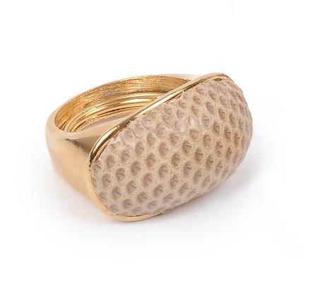 snakeskin dome ring