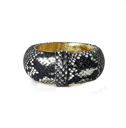 natural python bangle (medium)