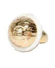 genuine circle design dome ring