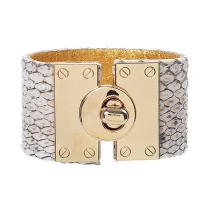 python metal lock bracelet
