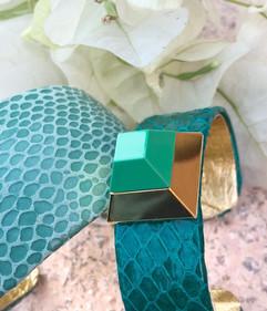 cuffs in aqua + emerald