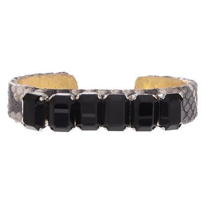 python + octagon gem mini cuff