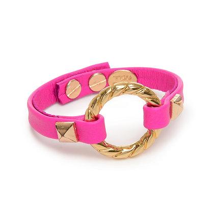 neon gold circle cuff
