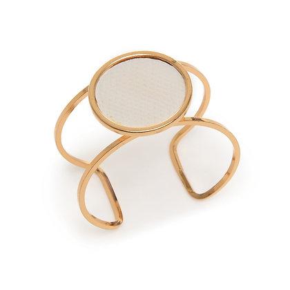 leather circle cuff