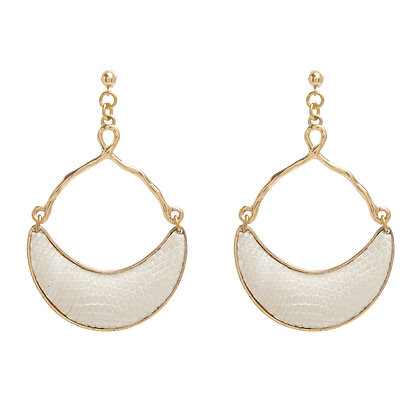 lizard half moon earrings
