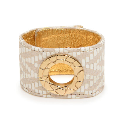 leather + design circle cuff