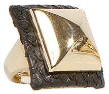 genuine python sq pyramid ring