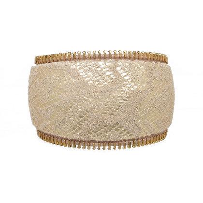 leather zipper cuff (curve)