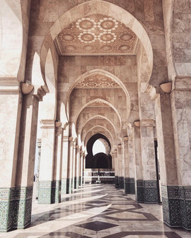 the hassan mosque in casablanca