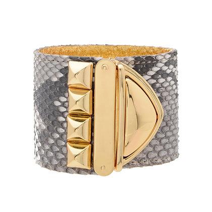 python studded XL lock cuff