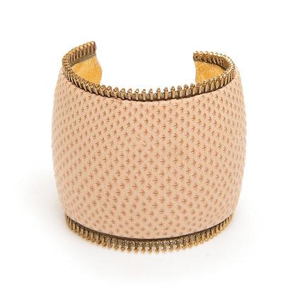 snakeskin zipper cuff (large)