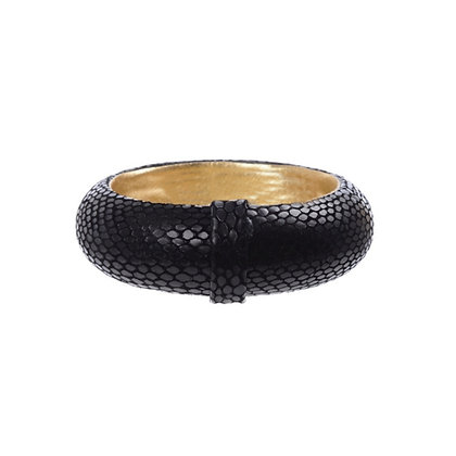 embossed leather bangle (small)