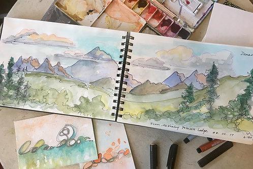 Travel Sketchbook: Denali