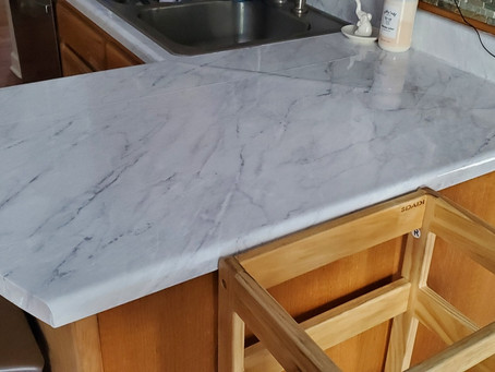 A Quick Kitchen Counter Makeover For Under $100