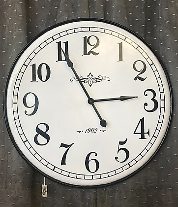 Horloge métal blanche
