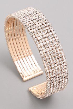 7 Layer Diamond Cuff Bracelet