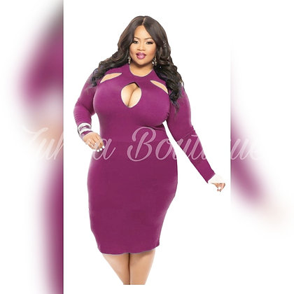Sexy Plus Size Plum Tarty Dress