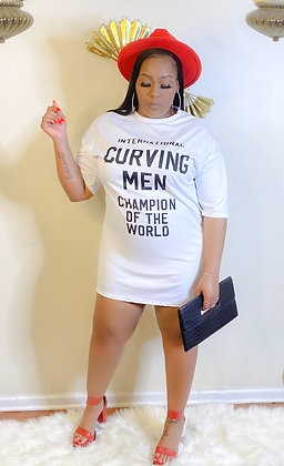 Curving Man T-Shirt Dress