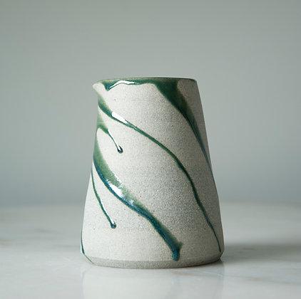 green Lava vase