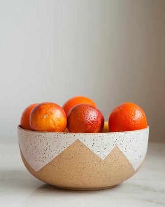 Peaks serving bowl