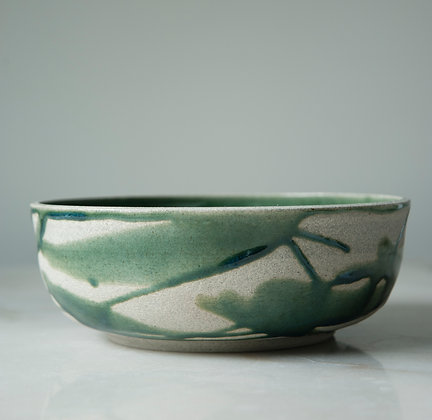 green Lava large serving bowl