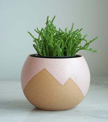 Peaks planter pastel pink