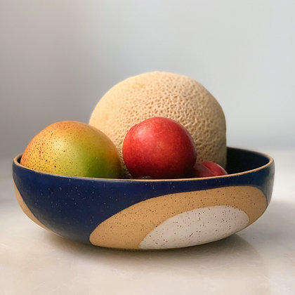 Phases moon low serving bowl