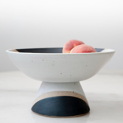 Phases footed bowl
