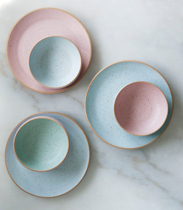 Pastel cereal bowls- two tone