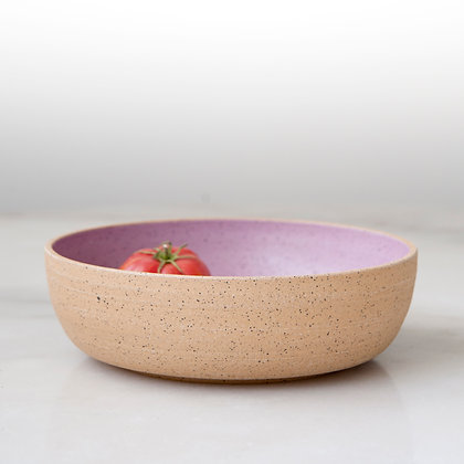 Rock Candy purple/pink serving bowl