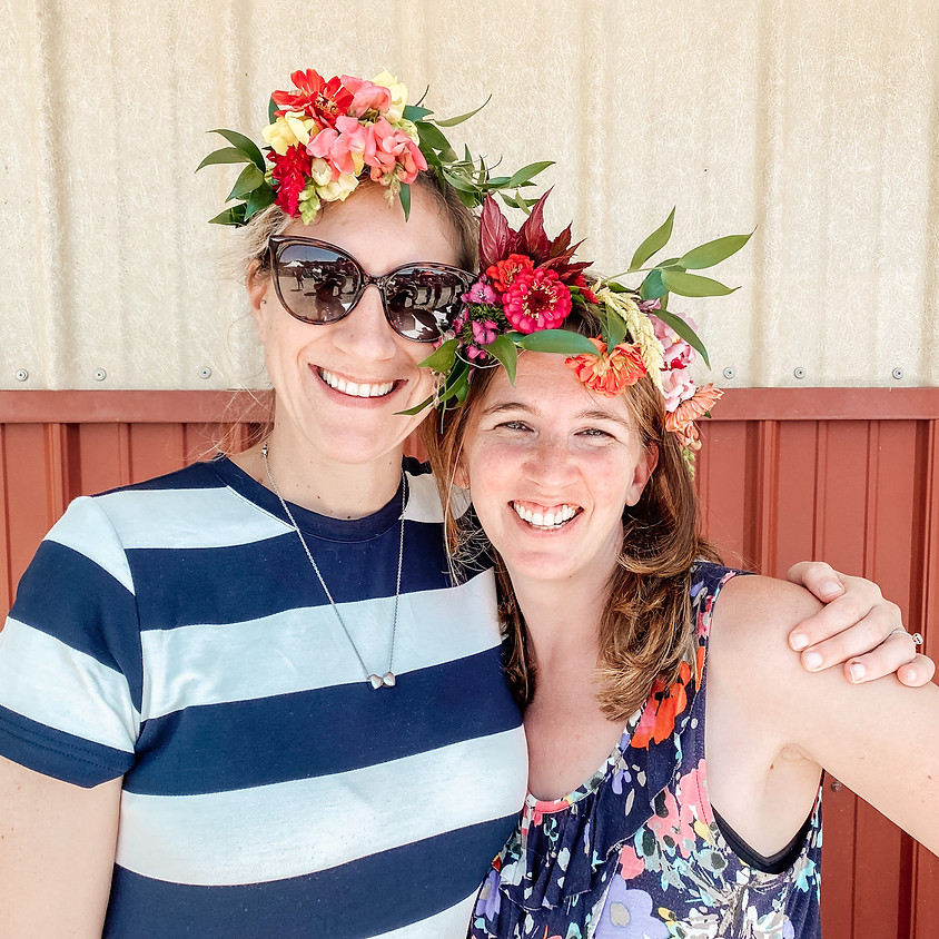 Make-Your-Own Flower Crown in the Garden with Magnolia Blooms