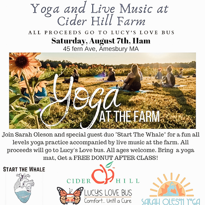 Yoga & Live Music to Benefit Lucy's Love Bus