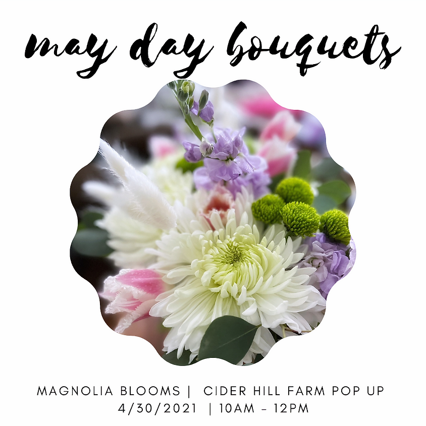 May Day Bouquet Bar with Magnolia Blooms