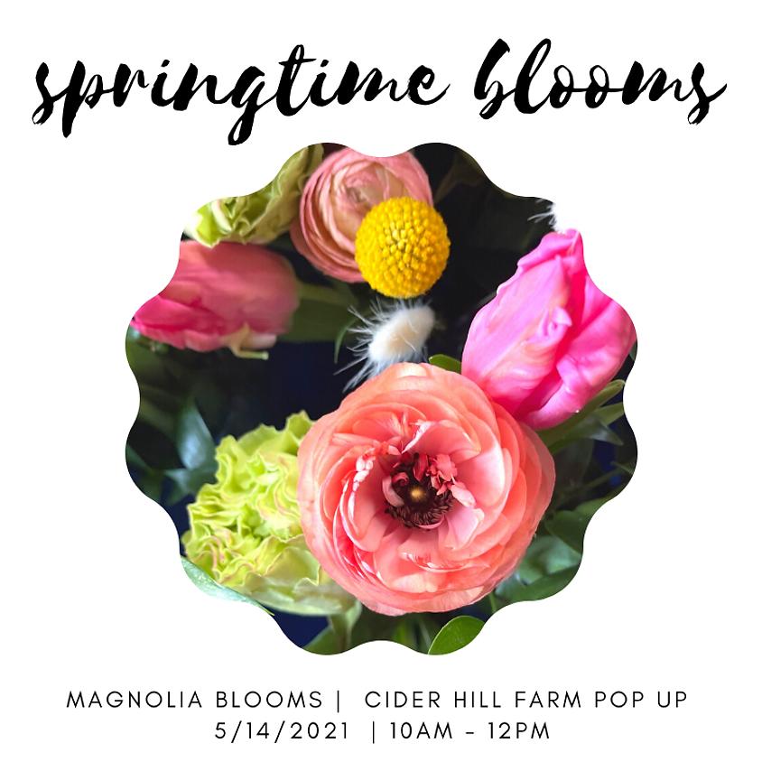 Springtime Bouquet Bar with Magnolia Blooms