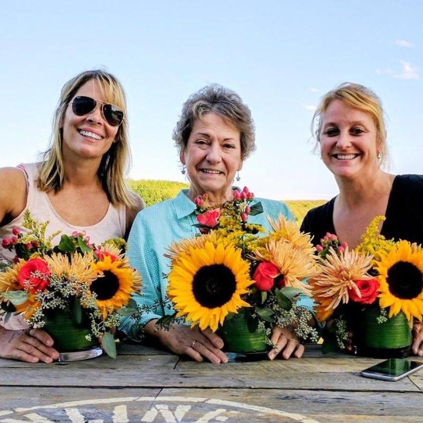 Sunny, Summer Sunflowers at Cider Hill Farm