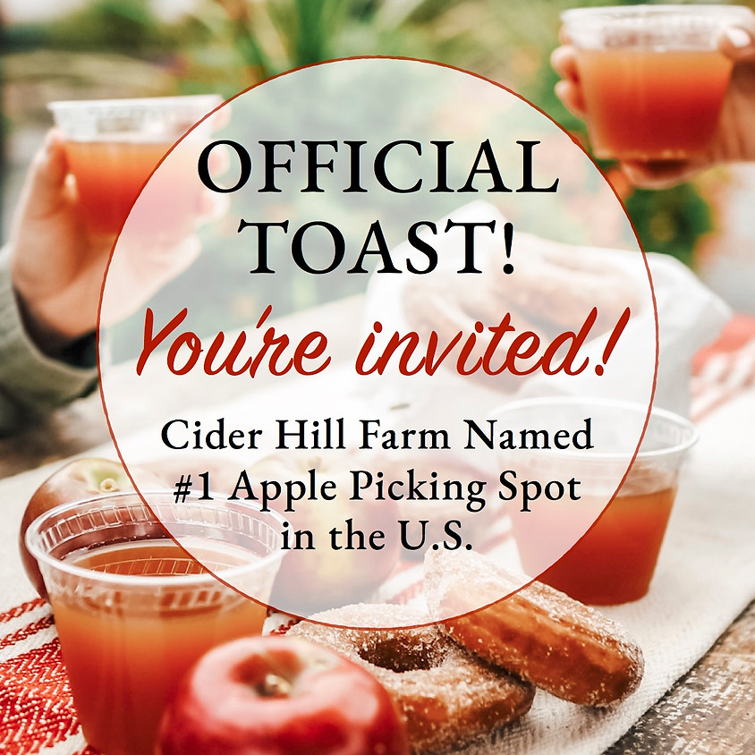 Official Community Toast!  Cider Hill Farm Named #1 Apple Picking Spot in the U.S