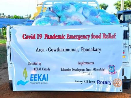 Covid-19 Emergency Food Relief in Kilinochchi