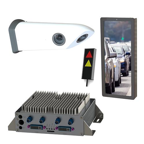 Komplett Set - Abbiegeassistent rechts mit Kamerawing lang und Monitor