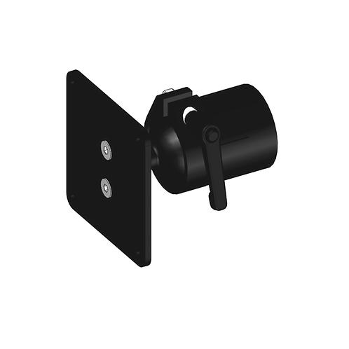 Kugelkopfhalterung für den Monitor, zur Befestigung auf der A-Säule