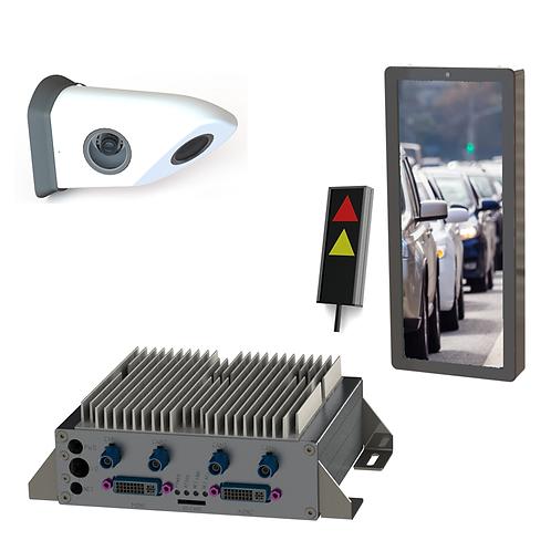 Komplett Set - Abbiegeassistent rechts mit Kamerawing kurz und Monitor