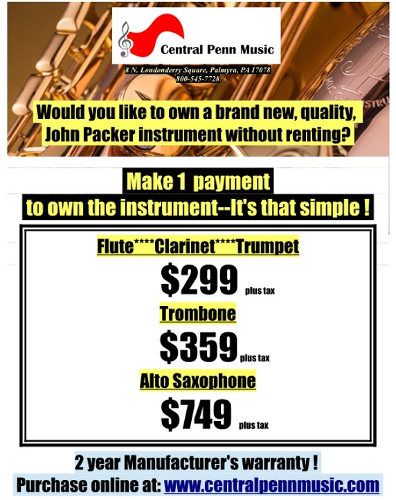 Packer sale instruments student 2020-21.