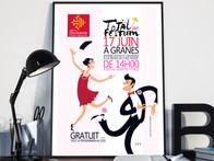 Total Festum , création d'une communication événementielle, affiche et flyer © Irène Strubbe #logo #chartegraphique #communication #infographiste #typographie #flyer #cartedevisite #creationsgraphique #affiches #catalogue #presse #edition #revel #limoux #quillan