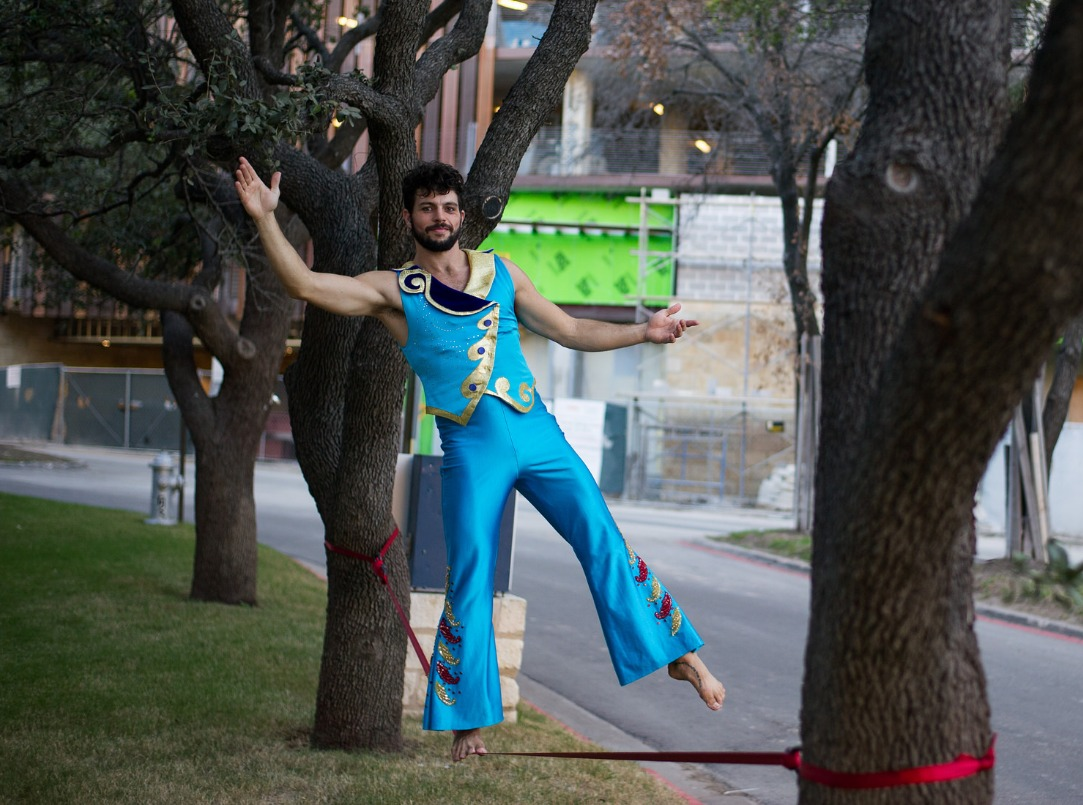 Tightrope Walker to Greet Guests