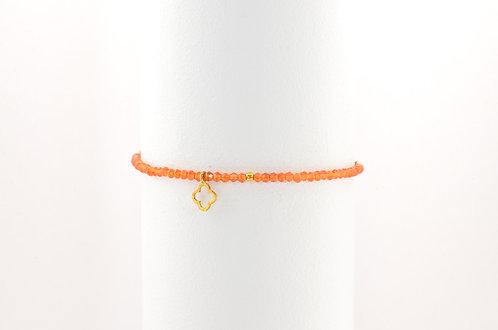 Felice Orange - Silber Stein Armband