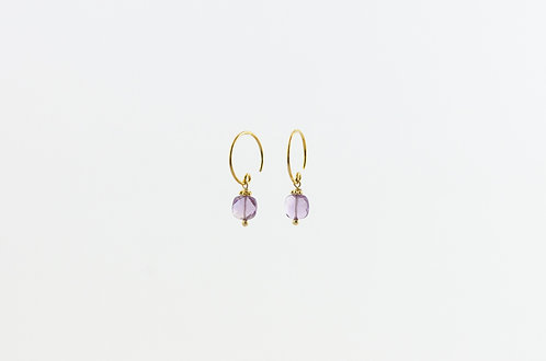 Violetta - Silber Ohrring