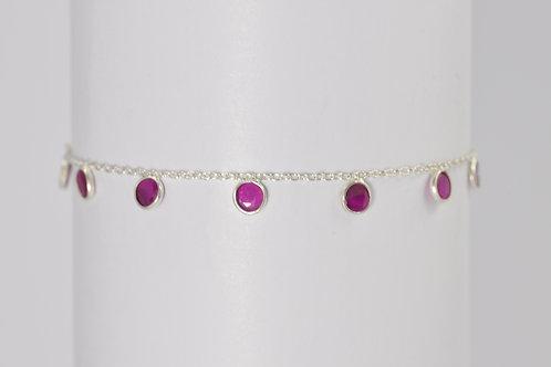 Violette - Silber Armkette