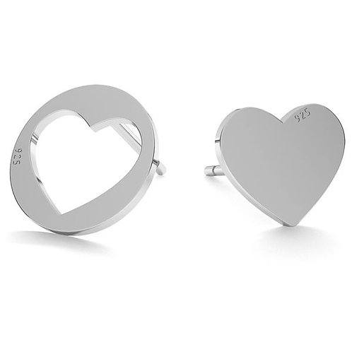 Mismatch Heart - Silber Ohrringe