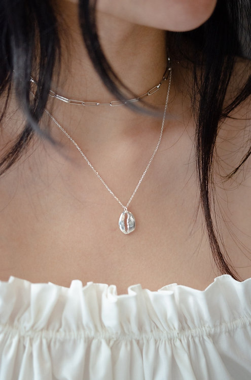 Shelly - Silber Halskette