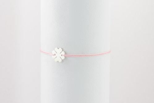Lucky Four - Silber Armband